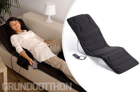 Fűthető masszázsmatrac komfort távirányítóval