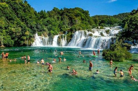 Látogatás a Krka Nemzeti Parkban és Vodicében