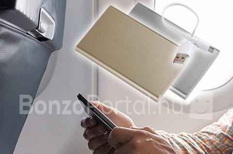 Hordozható 5500 mAh-es ultravékony PowerBank