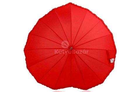 Szív alakú esernyő gumi borítású markolattal