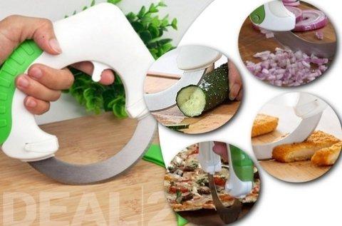 Roll 'n Cut kerek pizza- és zöldségszeletelő