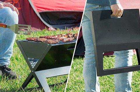 Összecsukható grillező 2 sütőráccsal 2 szinten