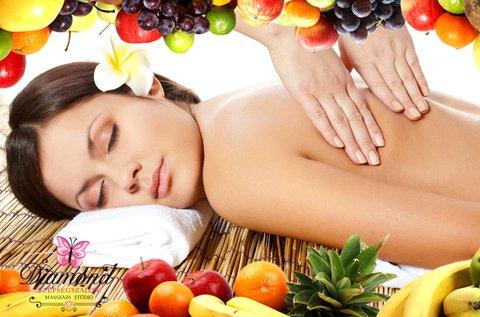 Relaxáló gyümölcsenzimes masszázs 3x60 percben