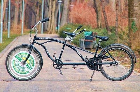 1 órás páros tandem biciklizés a Margitszigeten