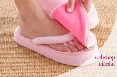 Memóriahabos lábápoló papucs lábujjelválasztóval
