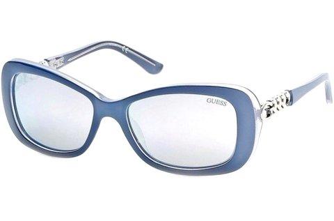 Guess női napszemüveg csillogó kék színben