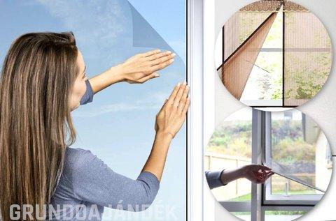 Tépőzáras, antracit színű szúnyogháló ablakra