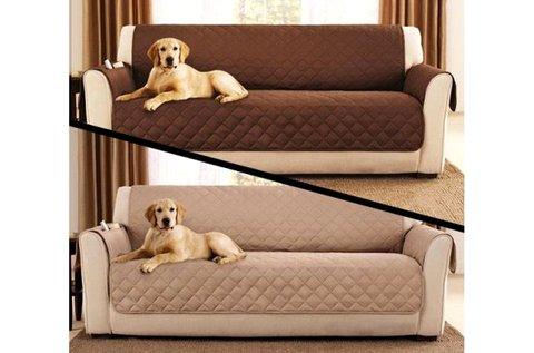 2 oldalú kanapévédő takaró barna-bézs színben