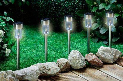 Napelemes kerti lámpa szuperfényes LED-del