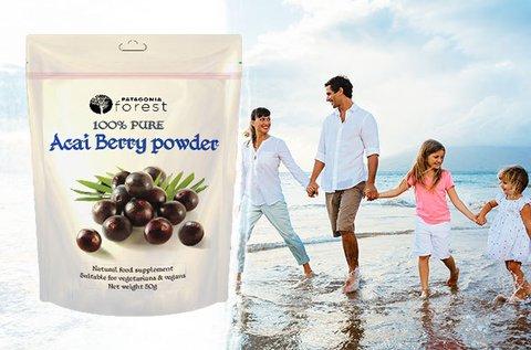 Fogyasztó hatású Acai berry étrend-kiegészítő por