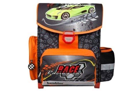 Race iskolatáska autós mintával, állítható vállpánttal