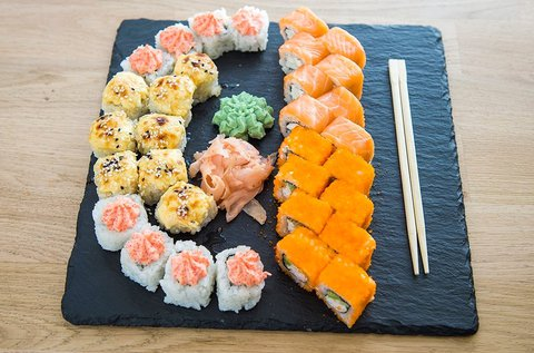 Grillezett és sült sushi szettek a belvárosban