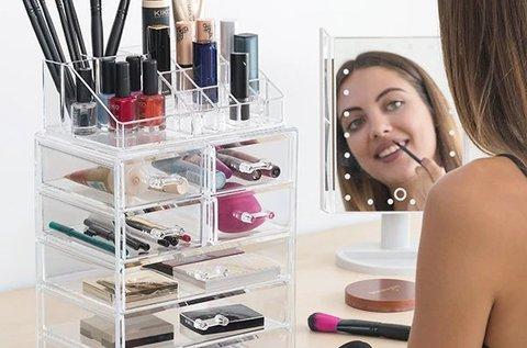 Make up rendszerező szekrény 7 fiókkal