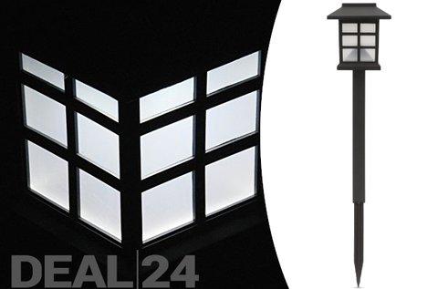 Leszúrható, LED-es szolár lámpa alkonykapcsolóval