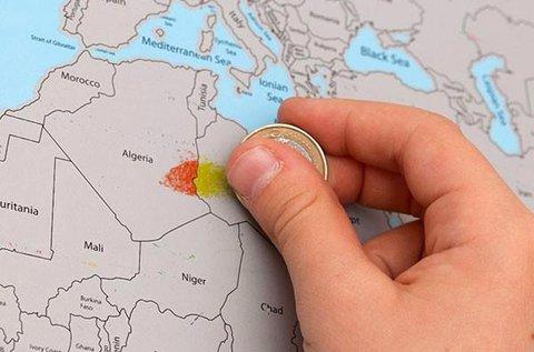 Színes kaparós térkép világutazóknak