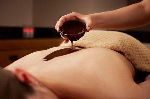 Relaxáló csokoládés hát- és kézmasszázs