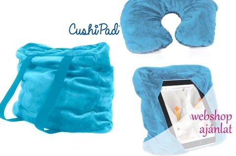 CushiPad 3 az 1-ben bársonyos párna utazáshoz