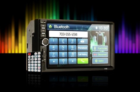 Multimédiás autórádió 7 colos LCD érintőkijelzővel