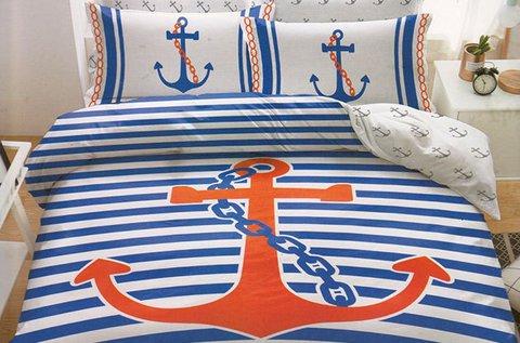 Ágyneműhuzat garnitúrák tengerész mintával