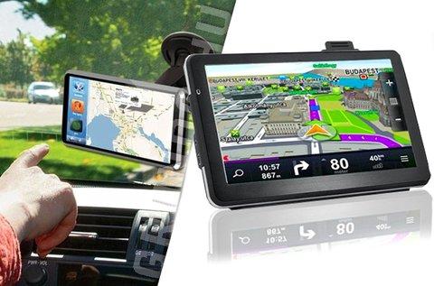 GPS készülék teljes Európa térképpel, autós tartóval