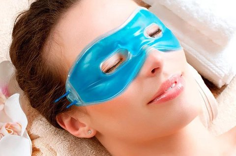 Hűthető és melegíthető relaxációs gél szemmaszk