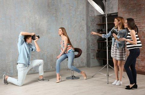 Profi fotózás sminkes és stylist segítségével