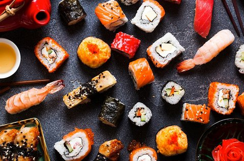60 db-os prémium sushi tál 4 fő részére