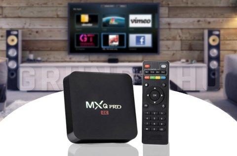 MXQ Pro 4K Smart TV box távirányítóval
