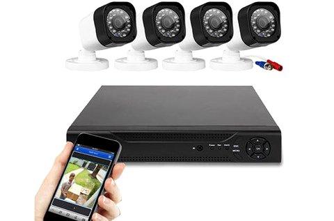 4 kamerás, vezetékes AHD kamerarendszer