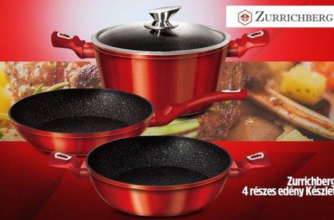 Zurrichberg edénykészlet fekete vagy piros színben