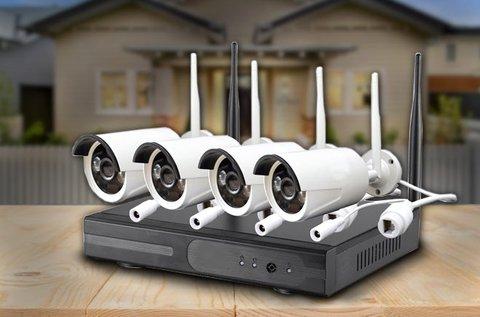 Komplett wifi IP megfigyelő rendszer 4 db kamerával