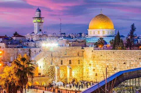 8 napos körutazás 1 fő részére Izraelben repülővel