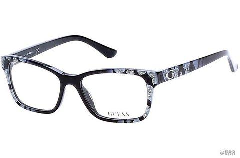 Guess női szemüvegkeret csillogó fekete színben