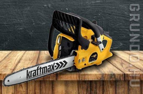 KraftMax láncfűrész 3,8 LE-s benzinmotorral
