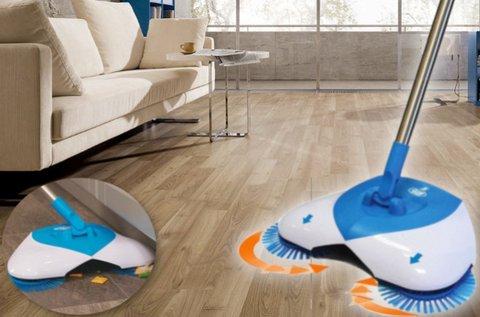 Forgókefés padló- és szőnyegtisztító seprű