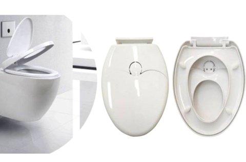Kényelmes 2 az 1-ben WC ülőke fehér színben