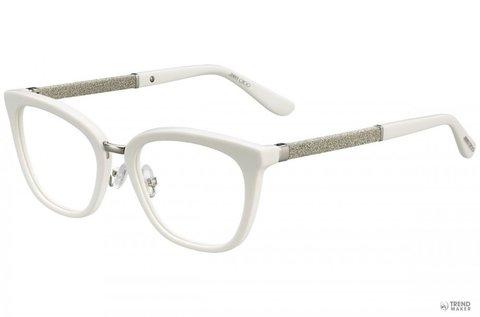 Jimmy Choo csillogó fehér szemüvegkeret nőknek