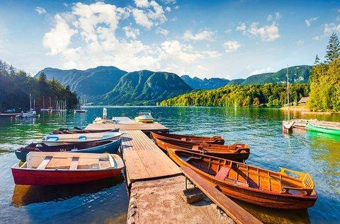 4 évszakos feltöltődés  közvetlenül a Bohinji-tónál
