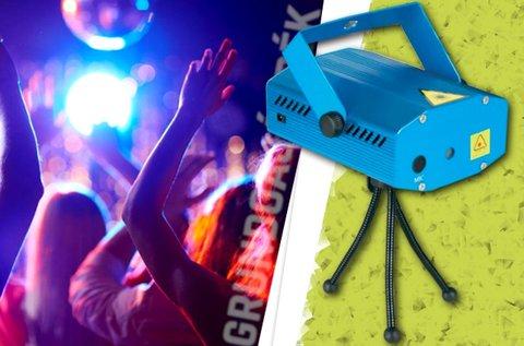 Lézeres disco lámpa hangvezérelt üzemmóddal