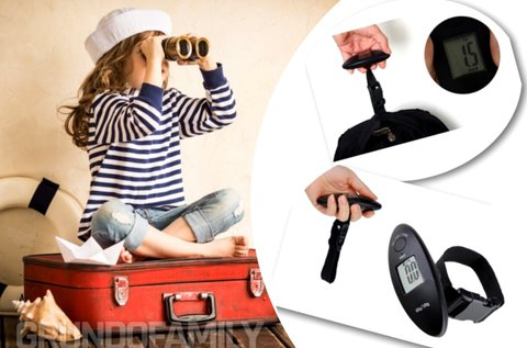 Digitális bőröndmérleg túlsúly kijelzéssel