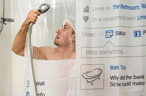 Facebook mintás zuhanyfüggöny
