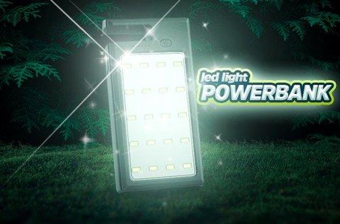 12000 mAh-s Powerbank Life töltő LED panellal