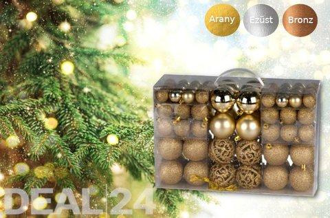 100 db-os karácsonyi gömbdísz szett műanyagból