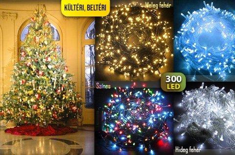 Dekoratív karácsonyi égősor 300 db LED-del