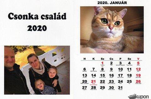 13 lapos, 2020-as falinaptár saját fényképekkel