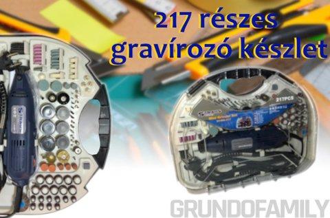 Straus 217 részes gravírozó készlet csiszológéppel
