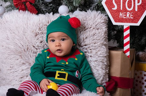 Karácsonyi családi fotózás műteremben