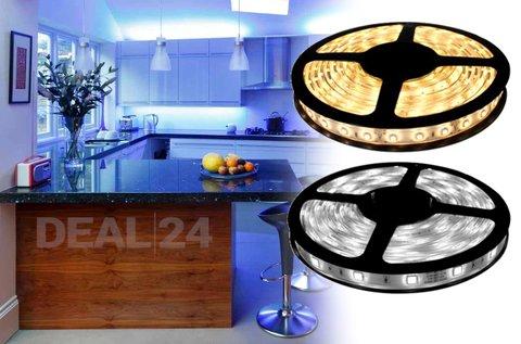 5 m-es LED szalag hideg vagy meleg fehér színben