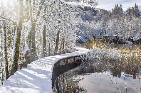 Lélegzetelállító téli túra a Plitvicei-tavaknál