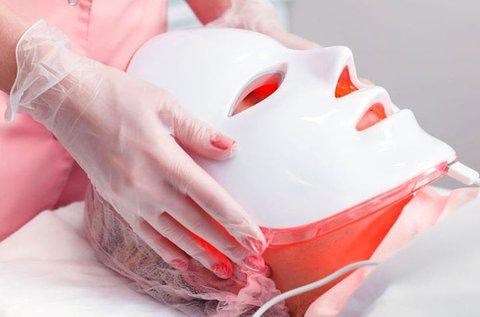 1 alkalmas bőrfiatalító LED maszk kezelés